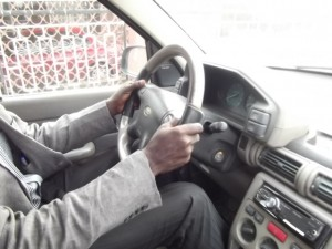 Steering handling: left and right hands must be positioned at 9am and 3pm positions on a clock respectively