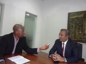 Hathiramani fielding questions from Motoring World's Editor-in-chief, Femi Owoeye
