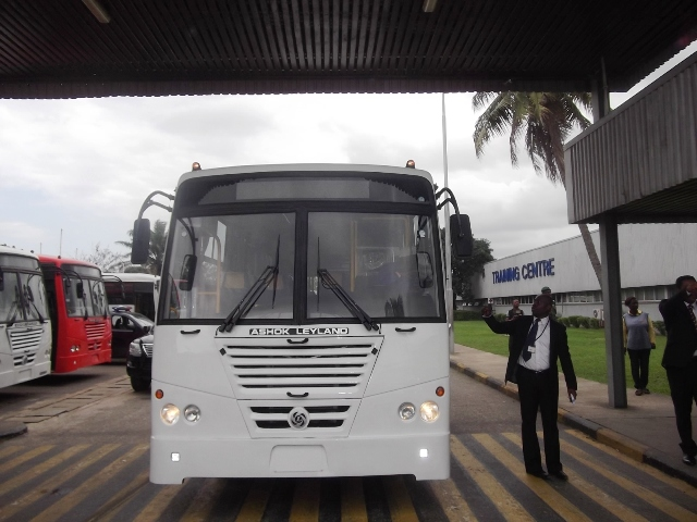 Ashok Leyland bus assembled in Nigeria from CKD plus over 20 per cent parts sourced locally