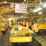 Boulos Piaggio Tricycles' assembly line : fed with 40 per cent local content