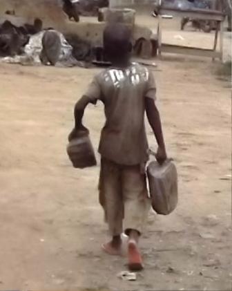 Daniel on duty, running an errand for his boss