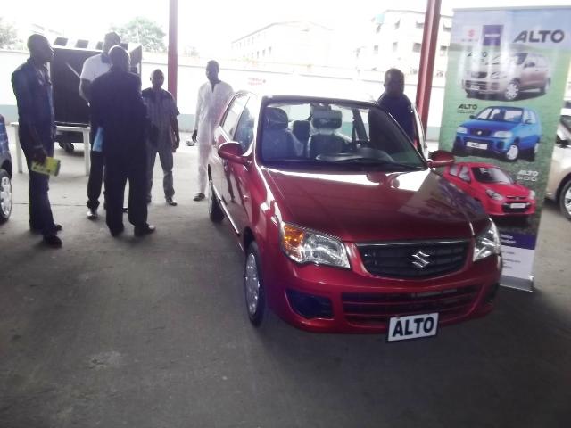 Stand of C&I Leasing exhibiting various ranges of Suzuki brand of automobiles