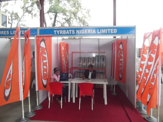 Tyrbats Nigeria Limited's stand offering MAXXIS tyre brand