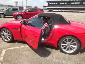Femi Owoeye, Motoring World's Editor-in-chief, about to test-drive Jaguar F-Type in Lagos recently