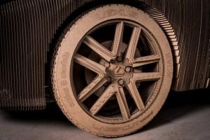 Lexus tyre, strangely, made of cardboard